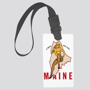 Maine Pinup Luggage Tag