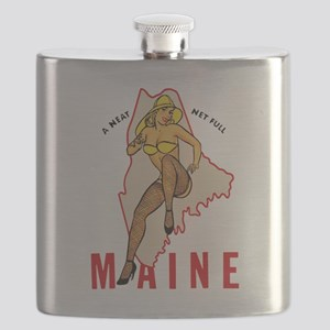Maine Pinup Flask