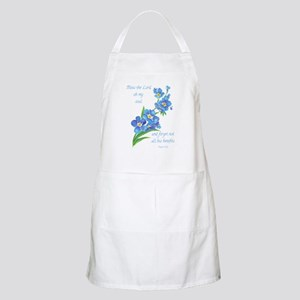 Forget Me Not Flowers with Scripture Apron