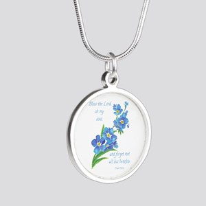 Forget Me Not Flowers with Scripture Necklaces