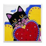 Black CAT With Milagro ART Tile