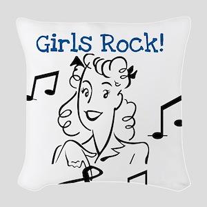 Ukrainian Girls Rock Woven Throw Pillow