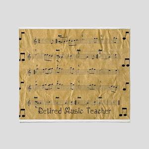 retired music teacher throw Throw Blanket