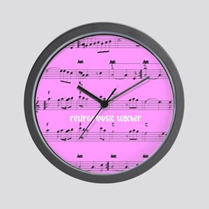 Retired Music Teacher All over PINK Wall Clock