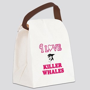 I Love Killer Whales Canvas Lunch Bag