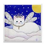 White Snow CAT Fairy Princess ART Tile