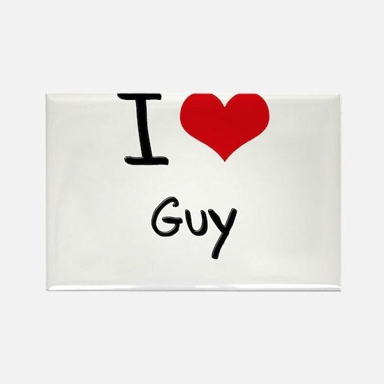 I Love Guy Rectangle Magnet