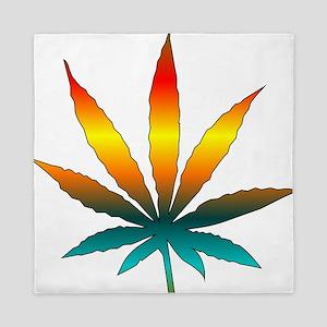 Rainbow Marijuana Leaf Queen Duvet