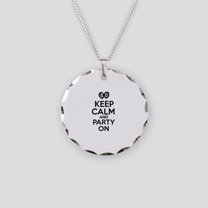 Keep calm 80 year old designs Necklace Circle Char