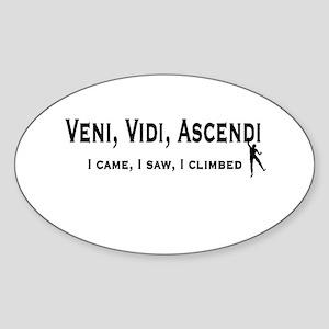 Veni, Vidi, Ascendi Oval Sticker