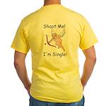 Hey Cupid I'm Single Yellow T-Shirt