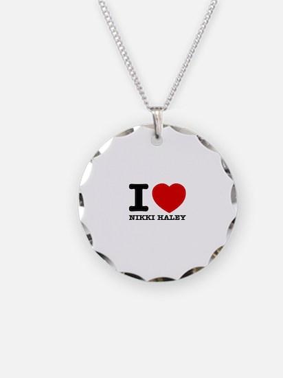 Political Designs Necklace Circle Charm