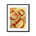 God Framed Panel Print