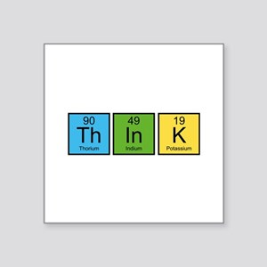 "Think Square Sticker 3"" x 3"""
