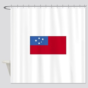 Samoa Flag Shower Curtain