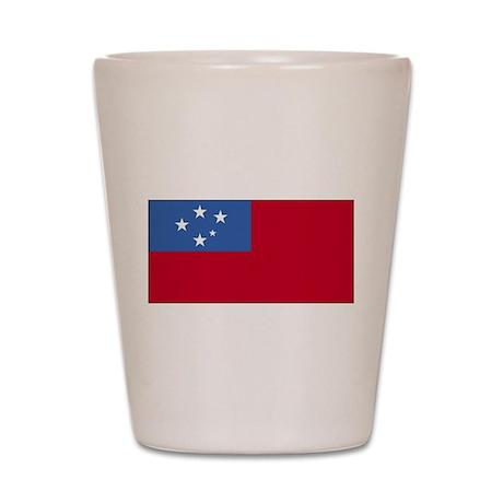 Samoa Flag Shot Glass