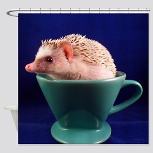 .hedgie in a cup. Shower Curtain