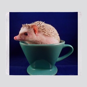 .hedgie in a cup. Throw Blanket