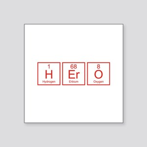 "Hero Square Sticker 3"" x 3"""