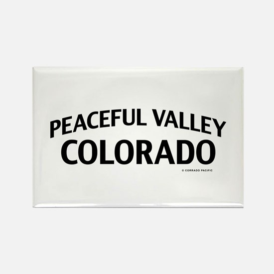 Peaceful Valley Colorado Rectangle Magnet