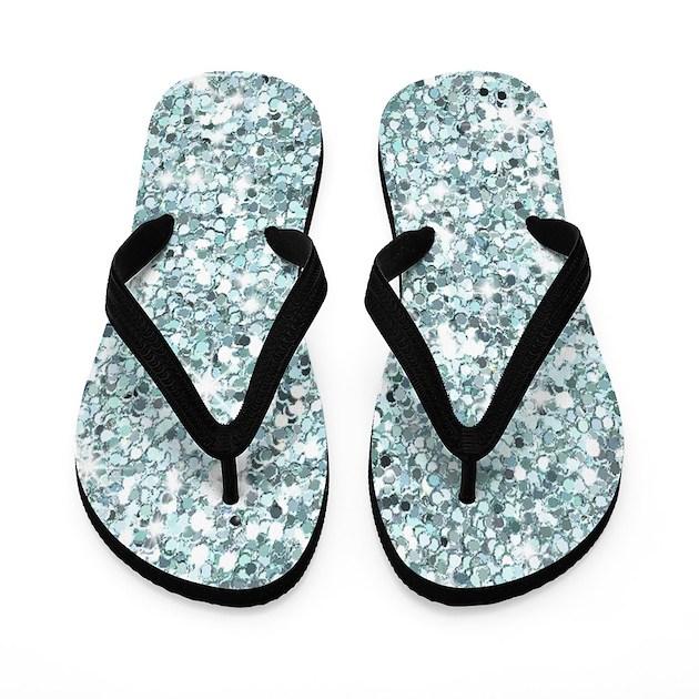 blue silver glitter sequin flip flops wedding by iflipforflops. Black Bedroom Furniture Sets. Home Design Ideas