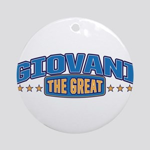 The Great Giovani Ornament (Round)