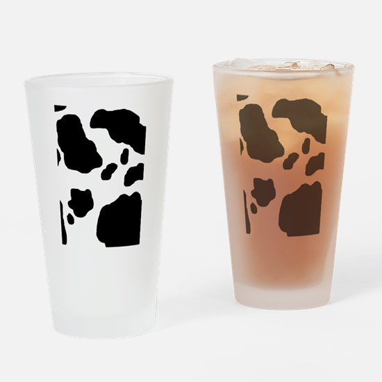 Cow Print Drinking Glass