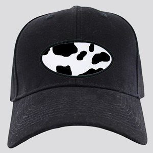 Cow Print Black Cap