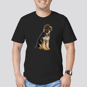 German Shepherd! Men's Fitted T-Shirt (dark)
