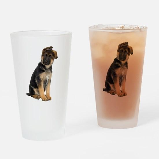German Shepherd! Drinking Glass