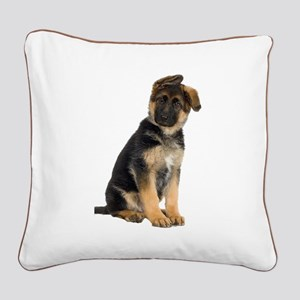 German Shepherd! Square Canvas Pillow