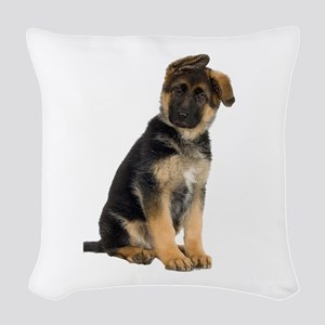 German Shepherd! Woven Throw Pillow