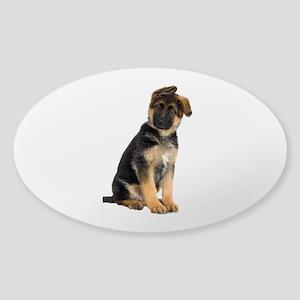 German Shepherd! Sticker (Oval)