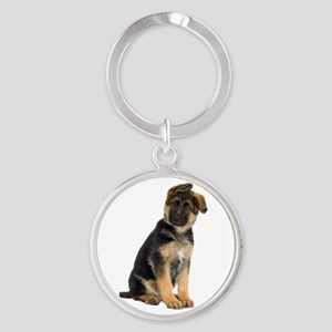 German Shepherd! Round Keychain