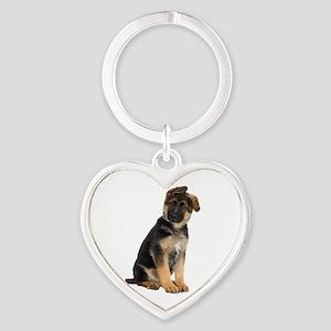 German Shepherd! Heart Keychain