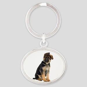 German Shepherd! Oval Keychain