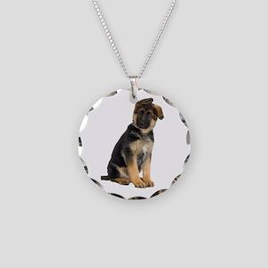 German Shepherd! Necklace Circle Charm