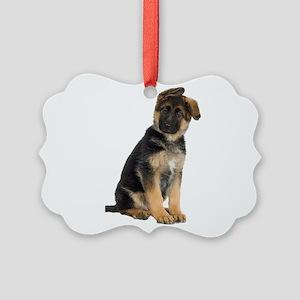 German Shepherd! Picture Ornament
