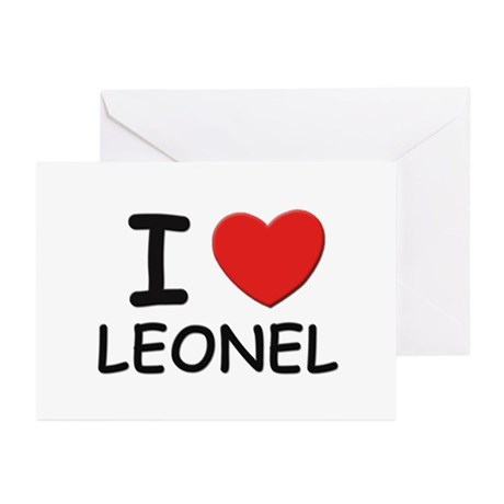 I love Leonel Greeting Cards (Pk of 10)