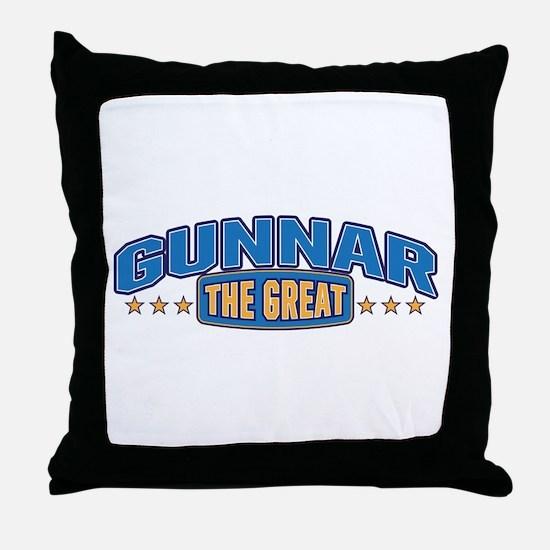 The Great Gunnar Throw Pillow