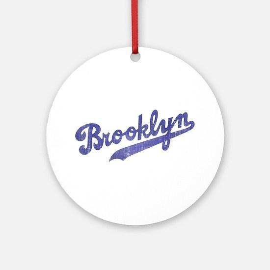 Throwback Brooklyn Ornament (Round)