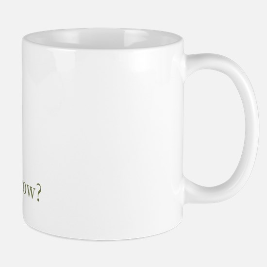 How now brown cow. Mug