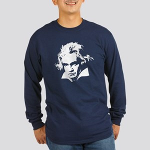 Beethoven Long Sleeve Dark T-Shirt