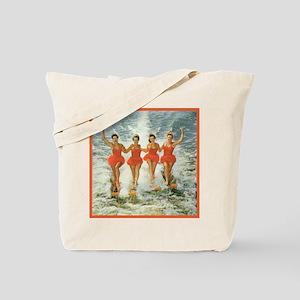 4 waterskiers Tote Bag