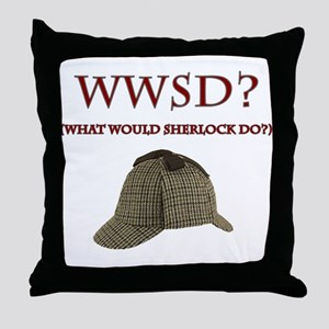 What Would Sherlock Do? Throw Pillow
