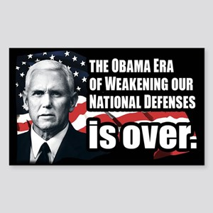Mike Pence Defense Quote Sticker (Rectangle)
