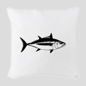 Longfin Albacore Tuna Woven Throw Pillow