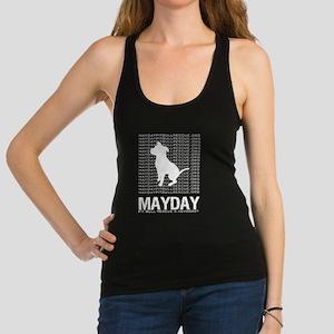 Mayday White Dog Logo Racerback Tank Top