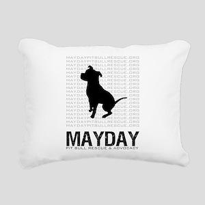 Mayday Black Dog Logo Rectangular Canvas Pillow