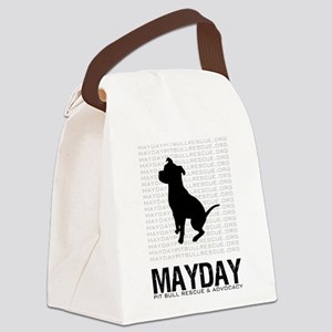 Mayday Black Dog Logo Canvas Lunch Bag
